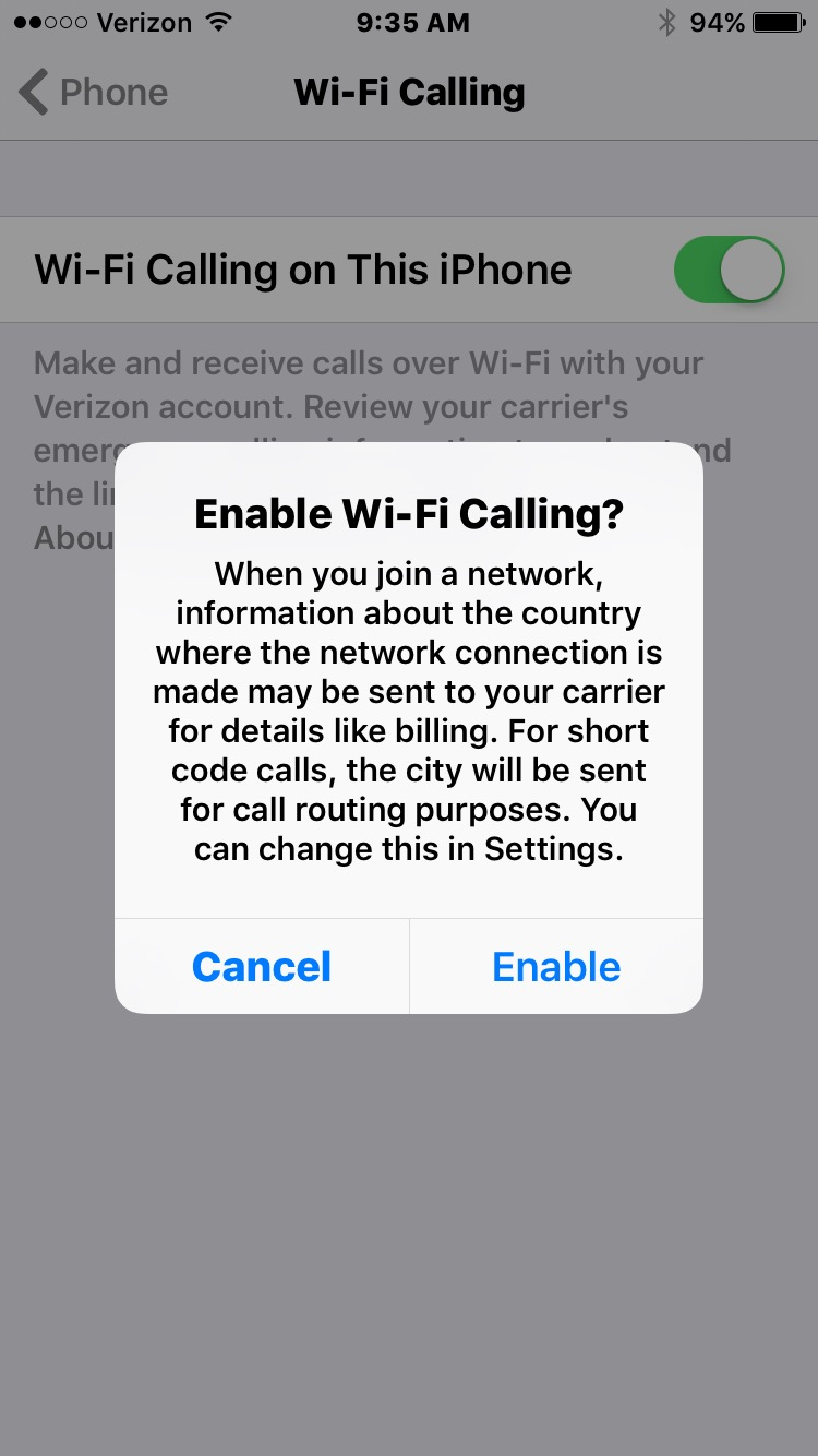 Apple's iOS 9 3 now supports Verizon Wi-Fi Calling - Mobile