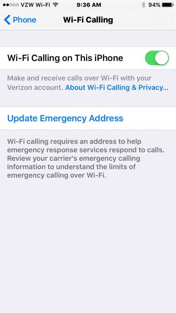 activate wifi calling on verizon iphone